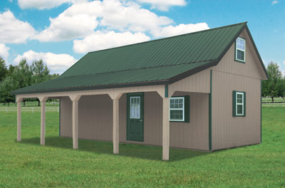 14 x 28 Two Story Recreational Cabin, Weekender, Card Room(Get-Away), Mancave, Home Office, In-Law Retreat