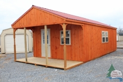 pine creek structures board and batten peak getaway weekend cabin with metal roof in Martinsburg, WV